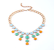 Women's Strands Necklaces Geometric Chrome Unique Design Personalized Rainbow Jewelry For Housewarming Congratulations Casual