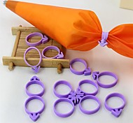 12Pcs/Set   Icing Bag Clips Sealing Piping Decorating  Bag  Silicone Ring Baking Tool Hold For Decorating Cakes Cookies Cupcakes