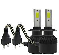 Txvso8 2xh7 100w 12000lm автомобильное освещение 12v комплект для переоборудования cob chips auto auto противотуманная лампа 6000k белый