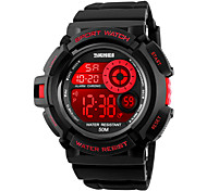 SKMEI® 1222 Men's Woman Watch Double Significant Outdoor Sports Watch Mountain Climbing Waterproof Electronic Watch Male LED Students Multi-Function