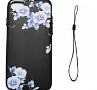 Для яблока iphone 7 7 плюс 6s 6 плюс se 5s 5 крышка корпуса синяя цветочным узором впрыск топлива облегчение обшивка кнопка толще тпу