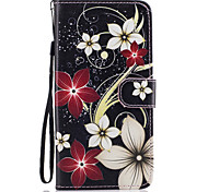 For Samsung Galaxy S8 Plus S8 Case Cover Flower Pattern Painted Card Stent PU Material Phone Case S7 Edge S7 S6 S5
