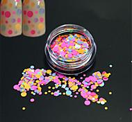 1bottle моды сладкий красочный круглый кусочек гвоздь искусство блеск круглый блестка украшения ногтей искусство DIY красоты срез p31
