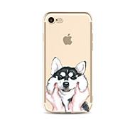 Для прозрачного узора картины собака мягкая тпу для яблока iphone 7 плюс 7 iphone 6 плюс 6 iphone 5 5c se iphone 4