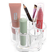Acrylic Transparent Portable Flower Shaped Cosmetics Makeup Storage Stand Makeup Brush Pot Cosmetic Organizer for Lipstick Eyeliner Pen Nail Polish