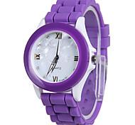 Women's Fashion Watch Quartz Silicone Band Casual Orange Purple Rose
