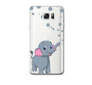 Für Hüllen Cover Ultra dünn Muster Rückseitenabdeckung Hülle Elefant Weich TPU für Samsung Note 5 Note 4 Note 3