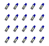 20Pcs T10 9*5050 SMD LED Car Light Bulb Blue Light DC12V