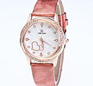 Женские Модные часы Наручные часы Кварцевый Кожа Группа Повседневная Черный Белый Синий Красный Золотистый Розовый Фиолетовый Роуз
