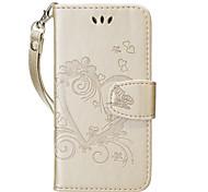 Для Чехлы панели Бумажник для карт Кошелек со стендом Флип С узором Чехол Кейс для С сердцем Твердый Искусственная кожа для SamsungA5