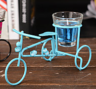 Bicycle Metal Glass Jelly Candles Sconce Candles Romantic Candlelight Dinner Cup-shaped Candle Candlestick Lantern Candle Holder Ramdon Color