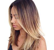 100g / pc человеческие волосы тела 10-18inch ombre коричневые светлые волосы человеческих волос