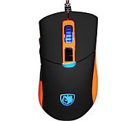 sades S8 USB игровой мыши проводной макс 2500dpi 8 кнопки 7 Coloful ослепления светодиодных фонарей