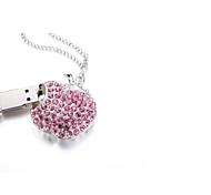 Espumante cristal pulseira charme usb flash drive flash disco 32gb