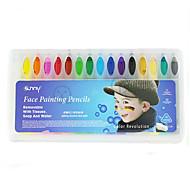 16 Colors Face Painting Pencils Splicing Structure Face Paint Crayon Christmas Body Painting Pen Stick For Children Party Makeup