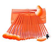 24 Makeup Brushes A Fresh Green Orange Makeup Brush A Set Of High-end Makeup Brush Make-up Brush Sets