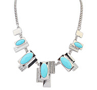 Women's Strands Necklaces Jewelry Jewelry Gem Alloy Euramerican Fashion Personalized Light Green Light Blue Blushing Pink Jewelry For