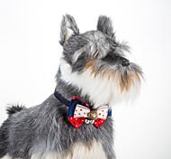 Кошка собака регулируемая звезда звезды воротник бабочка с колокольчиками