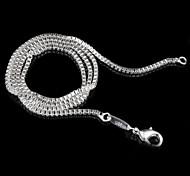 Da donna Collane a catena Argento sterling Di tendenza # 1 # 2 # 3 # 4 # 5 Gioielli Per Feste Casual 1 pezzo