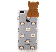 For  Apple iPhone 7 Transparent Pattern Case Back Cover Case 3D Cartoon Hard PC