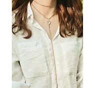 Women's Choker Necklaces Pendant Necklaces Rhinestone Drop Rhinestone Alloy Dangling Style Tassel Tassels Euramerican Fashion Personalized