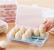 1Pcs  15 Blank Kitchen Refrigerator Eggs Storage Box Holder Preservation Box Portable Plastic Put Eggs Box Home Kitchen Storage Tools Random Color