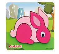Jigsaw Puzzles 3D Puzzles Building Blocks DIY Toys Rabbit 1 Wood Model & Building Toy