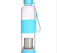 2PCS Transparent Outdoor Drinkware 350 ml Portable Glass Water Water Bottle