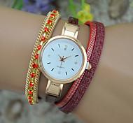 Women's Fashion Watch Bracelet Watch Quartz Leather Band Bangle