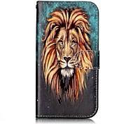 Pour samsung galaxy j3 (2017) j2 housse de couverture principale motif de lion relief de brillance matériel matériel matériel carte stent