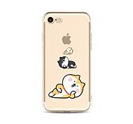 Para o caso transparente do caso do teste padrão tpu macio para o iphone 7 da maçã mais 7 iphone 6 mais 6 iphone 5 5c iphone 4 do se