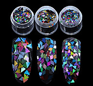 1PC Nail art sequins laser The diamond /The size of the triangle sequins
