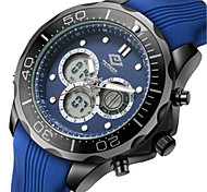 Men's Sport Watch Fashion Watch Quartz Silicone Band Blue