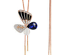 Women's Pendant Necklaces Rhinestone Butterfly Alloy Euramerican Fashion Gold Jewelry 1pc