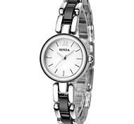 Women's Bracelet Watch Quartz Alloy Band Silver Black White Gold