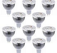 10pcs 4w mr16 (gu5.3) 4 высокой мощности привели 450-500lm теплый / холодный белый светодиодный прожектор dc12v