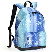13-Inch Lightweight Nylon PU Leather Travel Backpack Rucksack Women School Bag Laptop Backpack Daypack for School Working Hiking