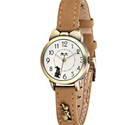 Women's Fashion Watch Japanese Quartz / Leather Band Casual Blue Brown Yellow Blue Brown Yellow