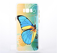 For Samsunggalaxy S8 Plus S8 Plating Glow in the Dark Case Back Cover Case Butterfly Soft TPU