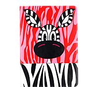 Для яблока ipad pro 9.7 '' ipad 5 ipad 6 крышка случая мультфильм животные шаблон карточка стент pu материал плоский защитный кожух
