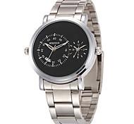 Men's Fashion Watch Quartz Alloy Band Black Silver White/Silver Black/Silver Black