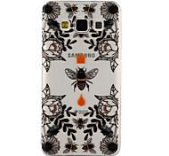 Для samsung galaxy a3 a5 (2017) покрытие корпуса пчелы и цветы рисунок паста клей лак высокое качество тпу материал телефон корпус a3 a5