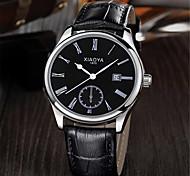 Men's Fashion Watch Quartz Leather Band Black Brown White/Brown Black/Silver Black