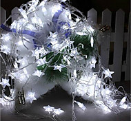 6W W Cordões de Luzes 7 lm AC220 10 m 100 leds Branco Quente Branco RGB