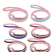 Leash Waterproof Running Solid Genuine Leather PU Leather Blushing Pink Blue Green Red Rose