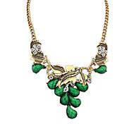 Women's Pendant Necklaces Jewelry Jewelry Gem Rhinestone Alloy Euramerican Fashion Personalized Light Green Light Blue Red Brown Jewelry