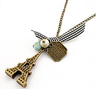 The Eiffel Tower Retro Pendant Chain Necklace Women Office Lady Jewelry for Women Gifts for the Party