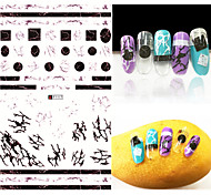 1pcs Fashion Magical Irregular Streak Pattern Nail Art 3D Stickers Nail DIY Beauty Beautiful Design Decoration F117