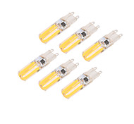 3W E14 G9 Bombillas LED de Mazorca T 4 COB 290 lm Blanco Cálido Blanco Fresco Regulable AC220 V 6 piezas