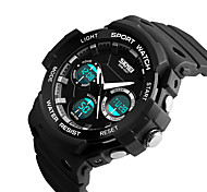 SKMEI 1247 Men's Woman Watch Double Significant Outdoor Sports Watch Mountain Climbing Waterproof Electronic Watch Male LCD Students Multi - Function